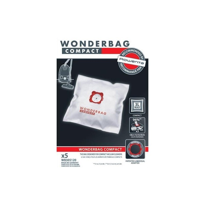 sac aspirateur universel 3 litres wonderbag compact. Black Bedroom Furniture Sets. Home Design Ideas