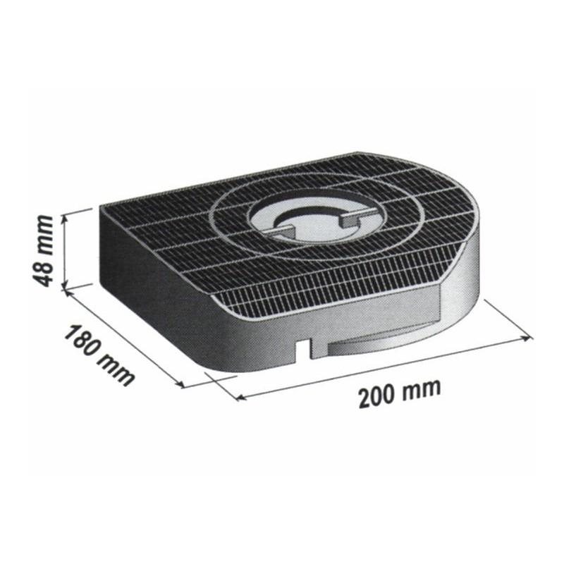 Filtre charbon Hotte aspirant Type 200