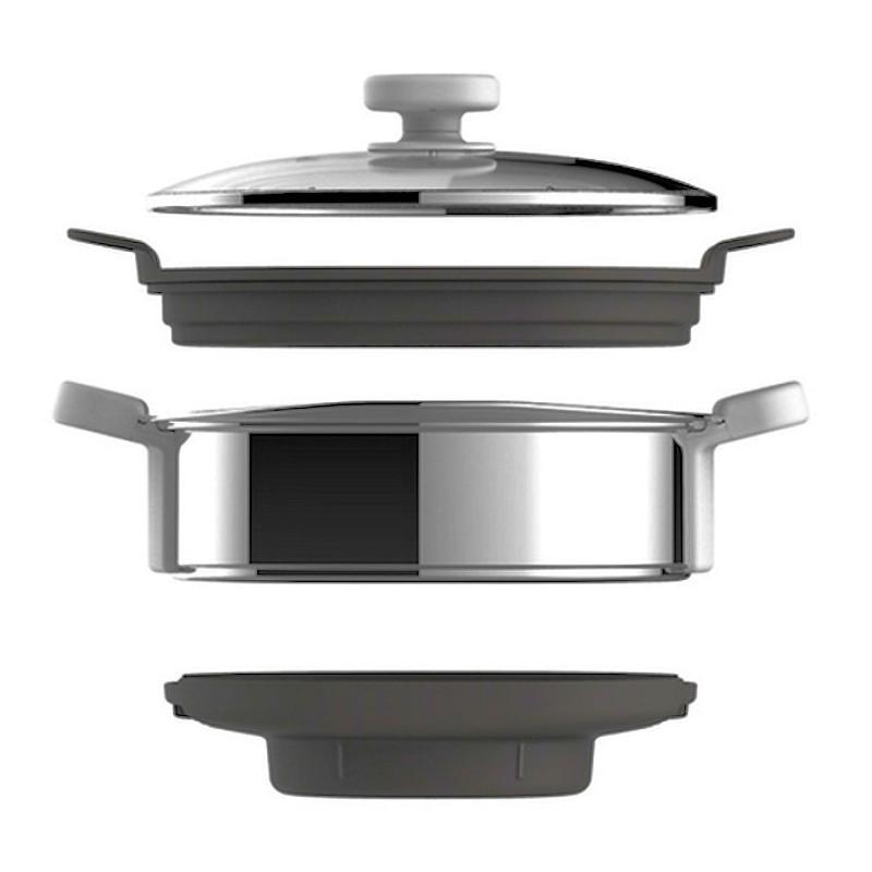 Companion Hf800: Bol Complet Cuiseur Vapeur Pour Robot Moulinex Companion