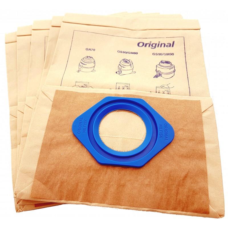 low priced cheap classic Sac aspirateur papier 6,5 litres Nilfisk GA70, GM80, GS80, GM90, GS90, ...