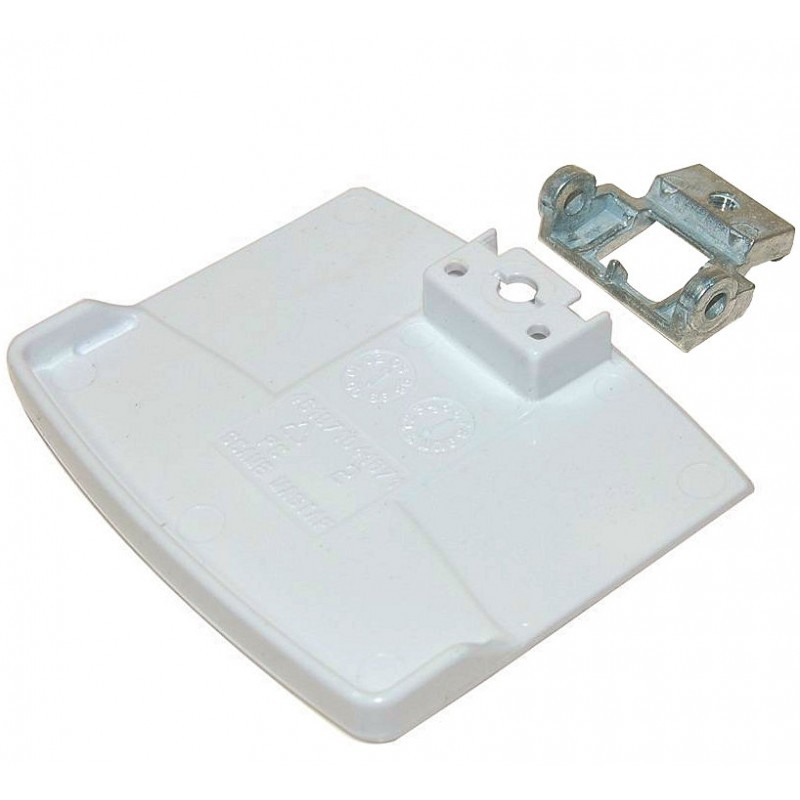 Poign e blanche de porte de hublot lave linge whirlpool - Poignee de porte refrigerateur whirlpool ...