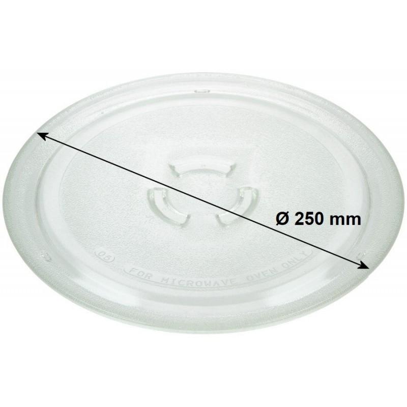 plateau tournant en verre tremp 250 mm micro ondes whirlpool. Black Bedroom Furniture Sets. Home Design Ideas
