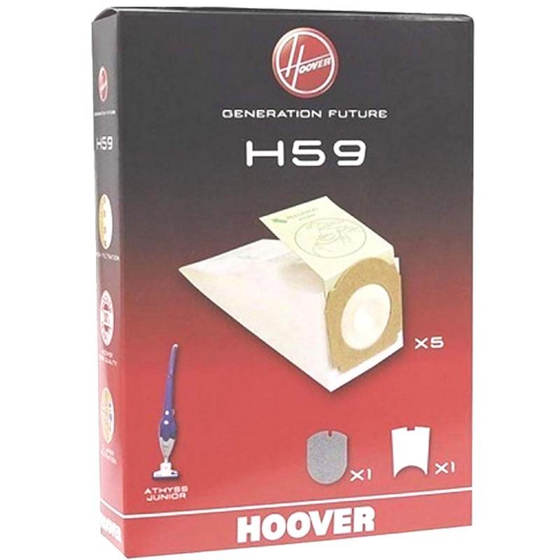 st355ec 011 5x Sacs pour Aspirateur Filtres pour Hoover Athyss st345ec021