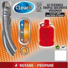 Flexible gaz Butane/Propane - Longueur 2 mètres